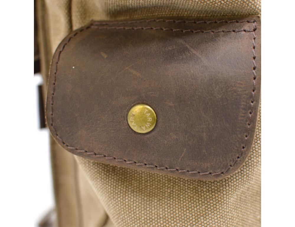 Коричневая кожаная сумка мессенджер TARWA RSc-6690-4lx - Фото № 8
