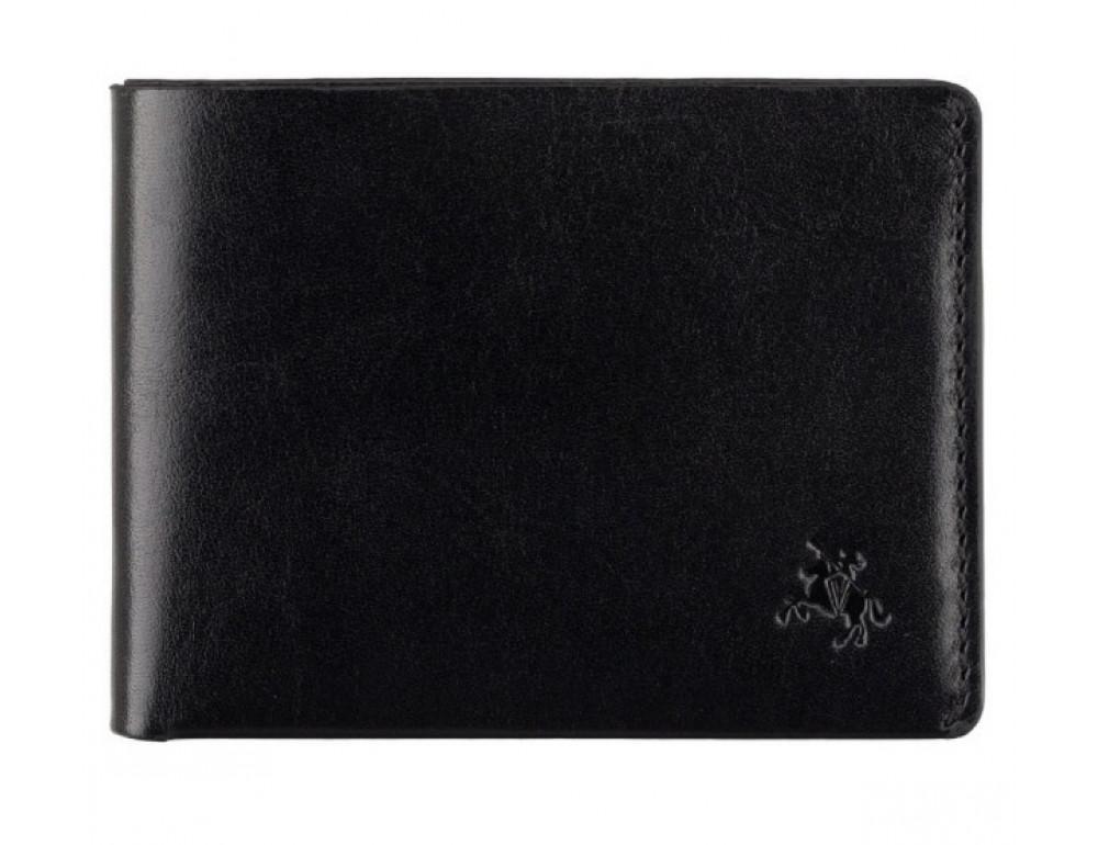 Чёрное мужское портмоне из гладкой кожи Visconti RW49 BLK Dollar - Фото № 1