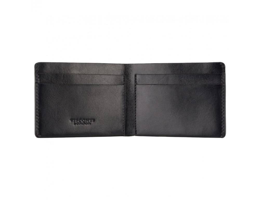 Чёрное мужское портмоне из гладкой кожи Visconti RW49 BLK Dollar - Фото № 2