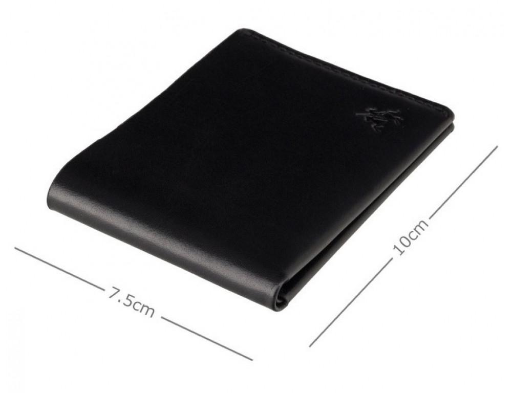 Чёрное мужское портмоне из гладкой кожи Visconti RW49 BLK Dollar - Фото № 3