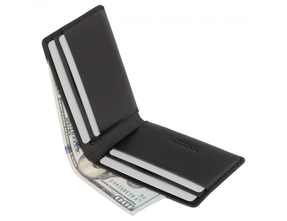 Чёрное мужское портмоне из гладкой кожи Visconti RW49 BLK Dollar - Фото № 4