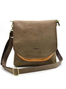 Коричнева шкіряна сумка через плече TARWA RY-18072-4lx