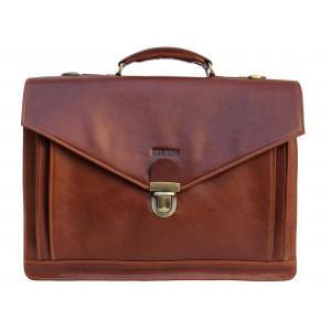 Рыжий мужской кожаный портфель Newery N4572GCR