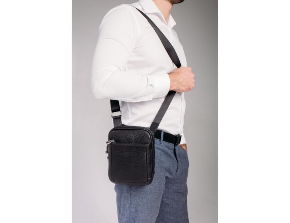 Маленькая чёрная сумка через плечо Tavinchi S-001A - Фото № 2