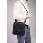 Чёрная мужская сумка кожаная Tavinchi S-002A - Фото № 101