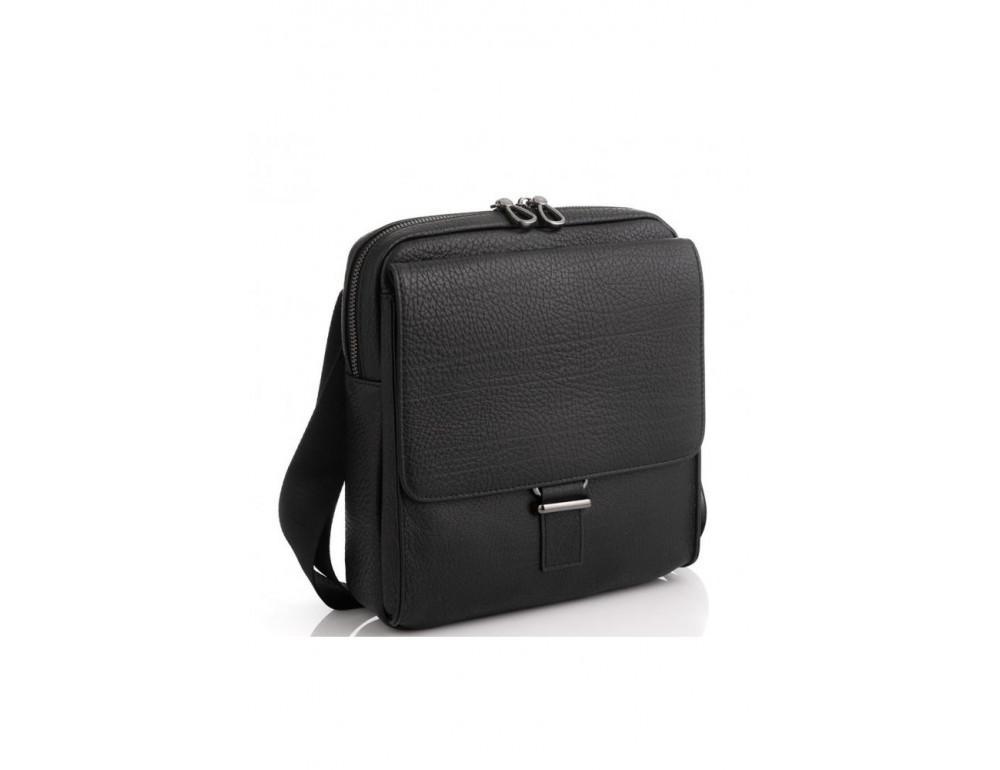 Чёрная мужская сумка кожаная Tavinchi S-002A