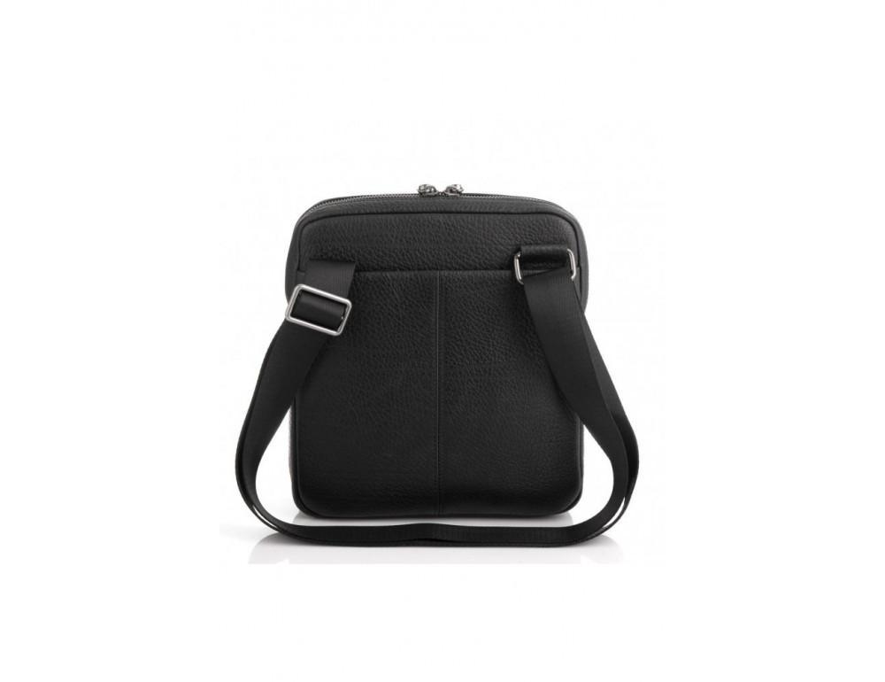 Чёрная мужская сумка кожаная Tavinchi S-002A - Фото № 3