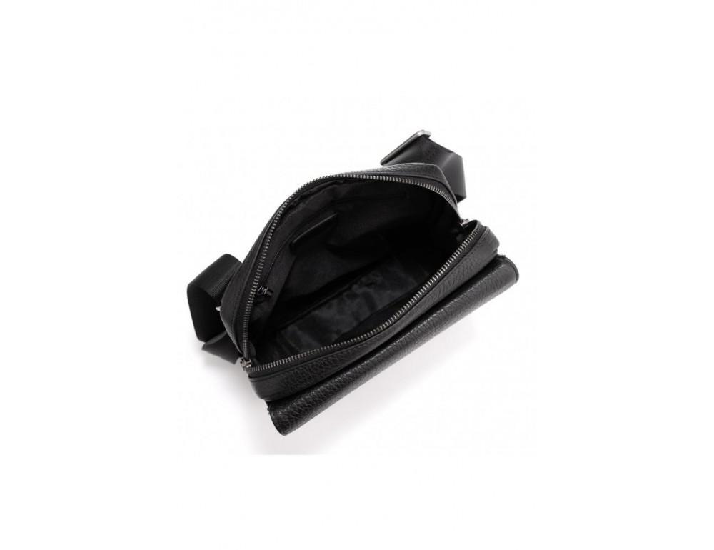 Чёрная мужская сумка кожаная Tavinchi S-002A - Фото № 4