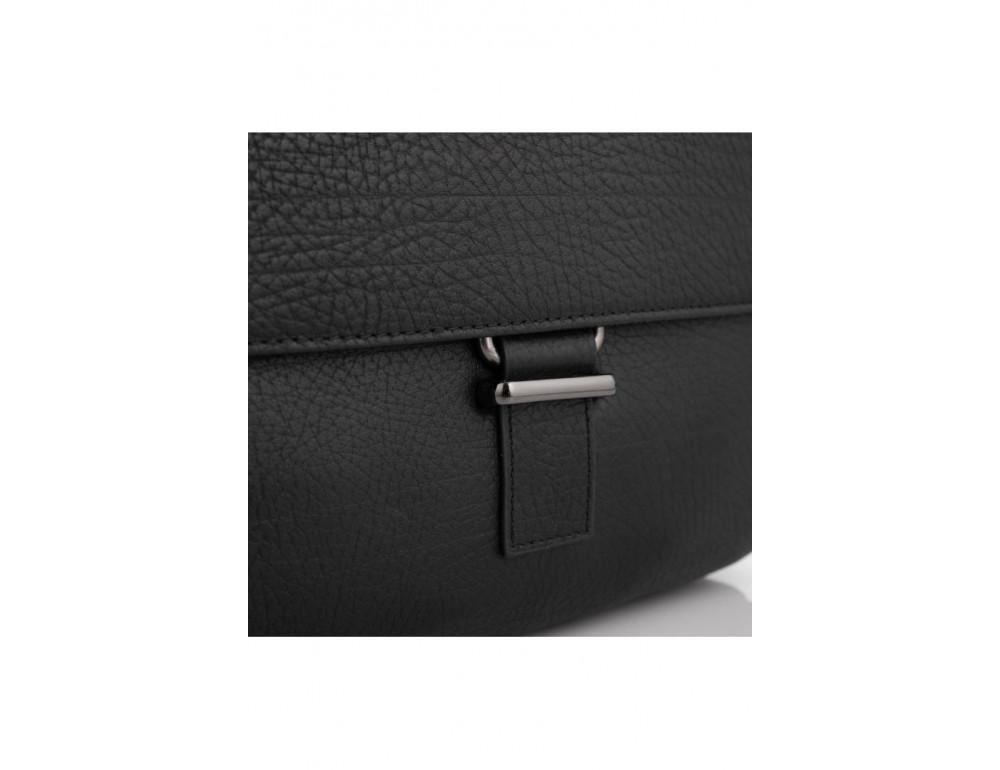 Чёрная мужская сумка кожаная Tavinchi S-002A - Фото № 5