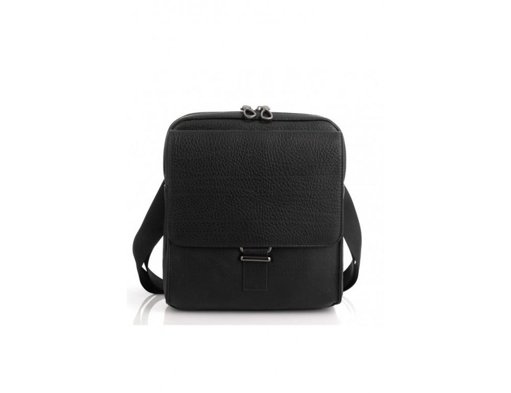 Чёрная мужская сумка кожаная Tavinchi S-002A - Фото № 6