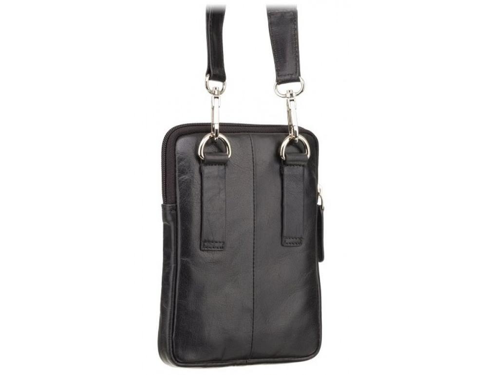Чорна маленька чоловіча сумка з гладкої шкіри Visconti S10 BLK Remi (Black) - Фотографія № 5