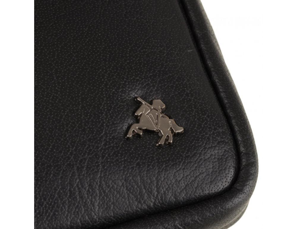 Чорна маленька чоловіча сумка з гладкої шкіри Visconti S10 BLK Remi (Black) - Фотографія № 6