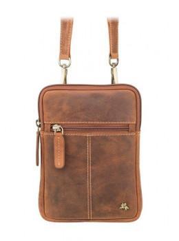 Маленькая сумка мужская из винтажной кожи Visconti S10 OIL TAN