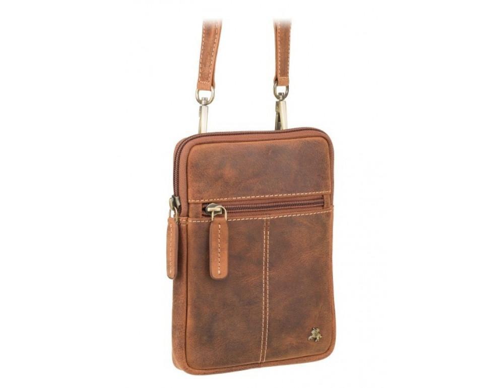 Маленька сумка чоловіча з вінтажній шкіри Visconti S10 OIL TAN - Фотографія № 2