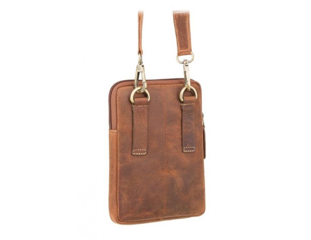 Маленька сумка чоловіча з вінтажній шкіри Visconti S10 OIL TAN - Фотографія № 5