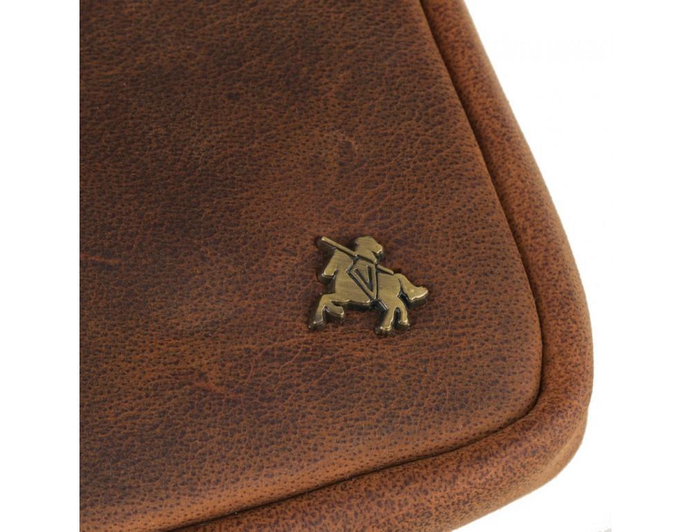 Маленька сумка чоловіча з вінтажній шкіри Visconti S10 OIL TAN - Фотографія № 6