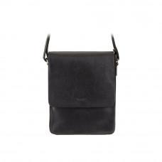 Чёрная кожаная сумка с клапаном Visconti S11 BLK Skyler (Black)