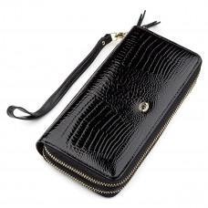 Чёрный женский кошелёк из лаковой кожи ST Leather S5001A
