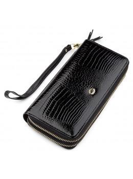 Чорний жіночий гаманець з лакової шкіри ST Leather S5001A