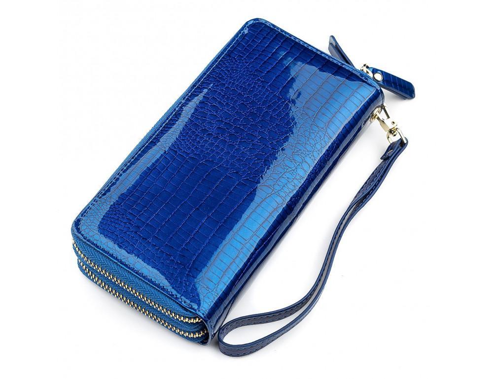 Синий женский кошелёк из лаковой кожи ST Leather S5001B - Фото № 2