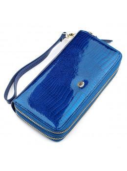Синий женский кошелёк из лаковой кожи ST Leather S5001B