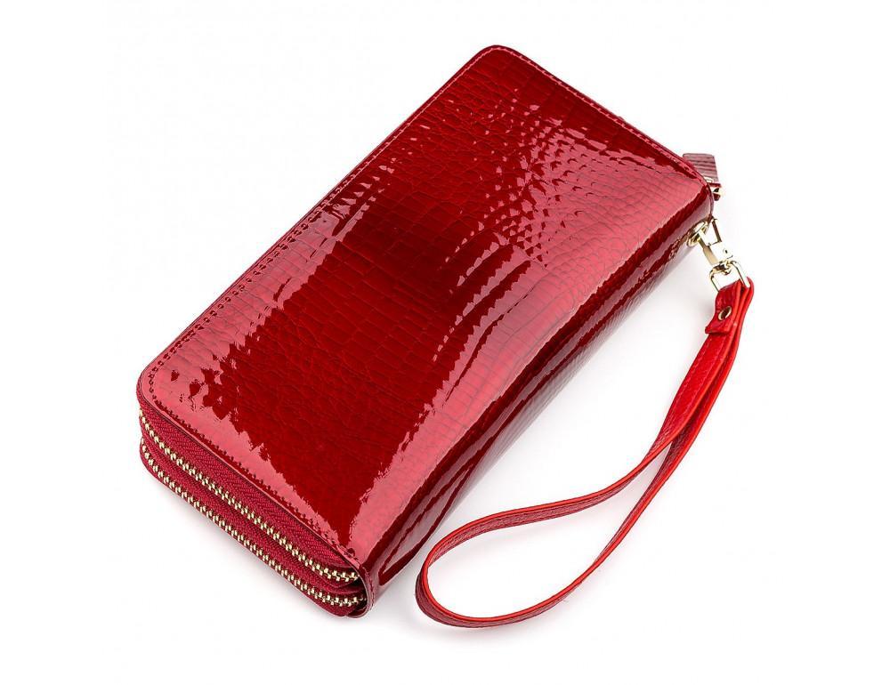 Красный женский кошелёк из лаковой кожи ST Leather S5001R - Фото № 2