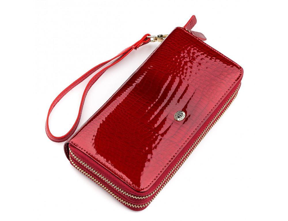 Красный женский кошелёк из лаковой кожи ST Leather S5001R - Фото № 1