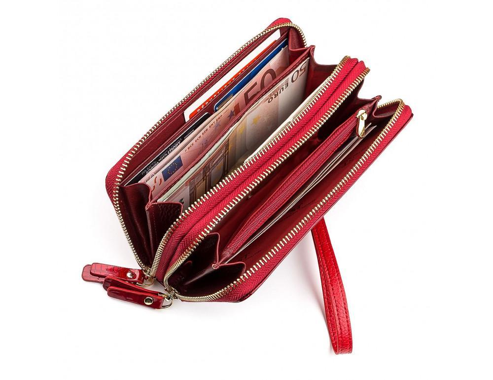 Красный женский кошелёк из лаковой кожи ST Leather S5001R - Фото № 3