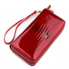 Красный женский кошелёк из лаковой кожи ST Leather S5001R