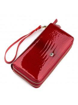 Червоний жіночий гаманець з лакової шкіри ST Leather S5001R