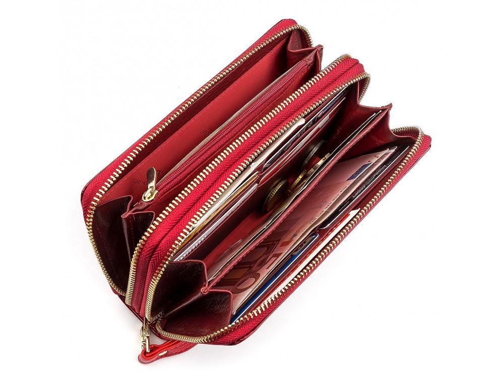 Красный женский кошелёк из лаковой кожи ST Leather S5001R - Фото № 4