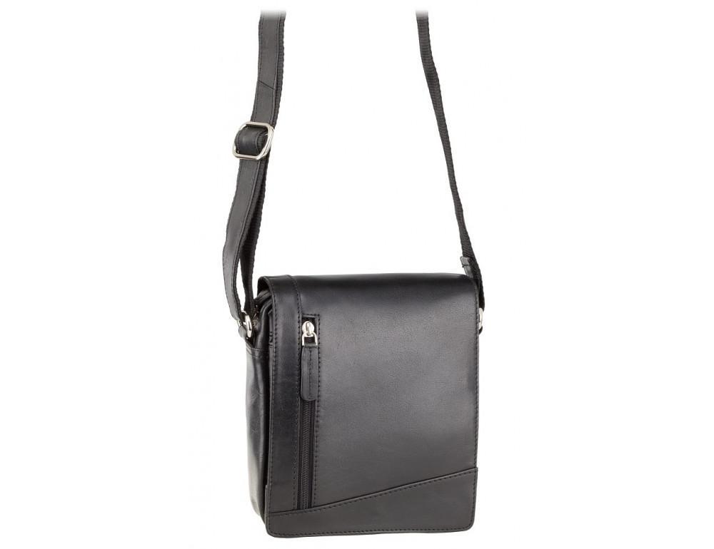 Чёрная кожаная сумка через плечо Visconti S7 BLK Bag