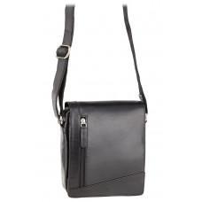 Чёрная кожаная сумка через плечо Visconti S7 BLK Bag A5