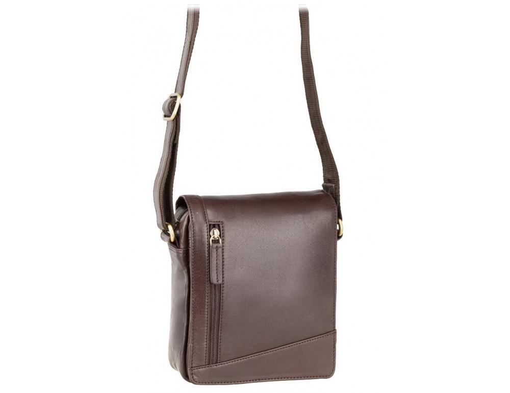 Коричневая кожаная сумка через плечо Visconti S7 BRN Bag
