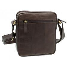 Коричневая мужская маленькая сумка-мессенджер Visconti S8 BRN