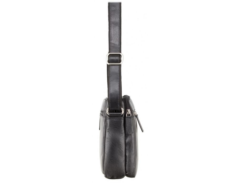Чёрная мужская маленькая сумка-мессенджер Visconti S8 BLK - Фото № 3
