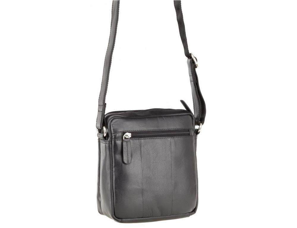 Чёрная мужская маленькая сумка-мессенджер Visconti S8 BLK - Фото № 4