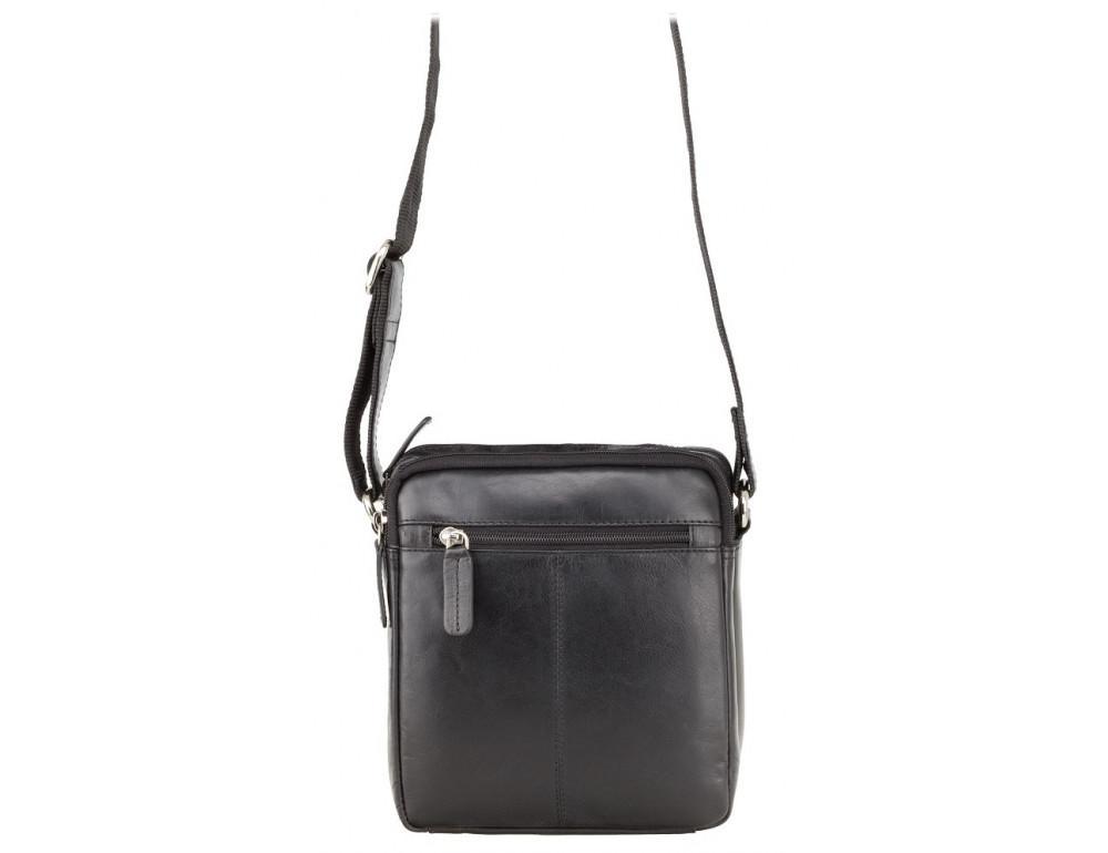 Чёрная мужская маленькая сумка-мессенджер Visconti S8 BLK - Фото № 5