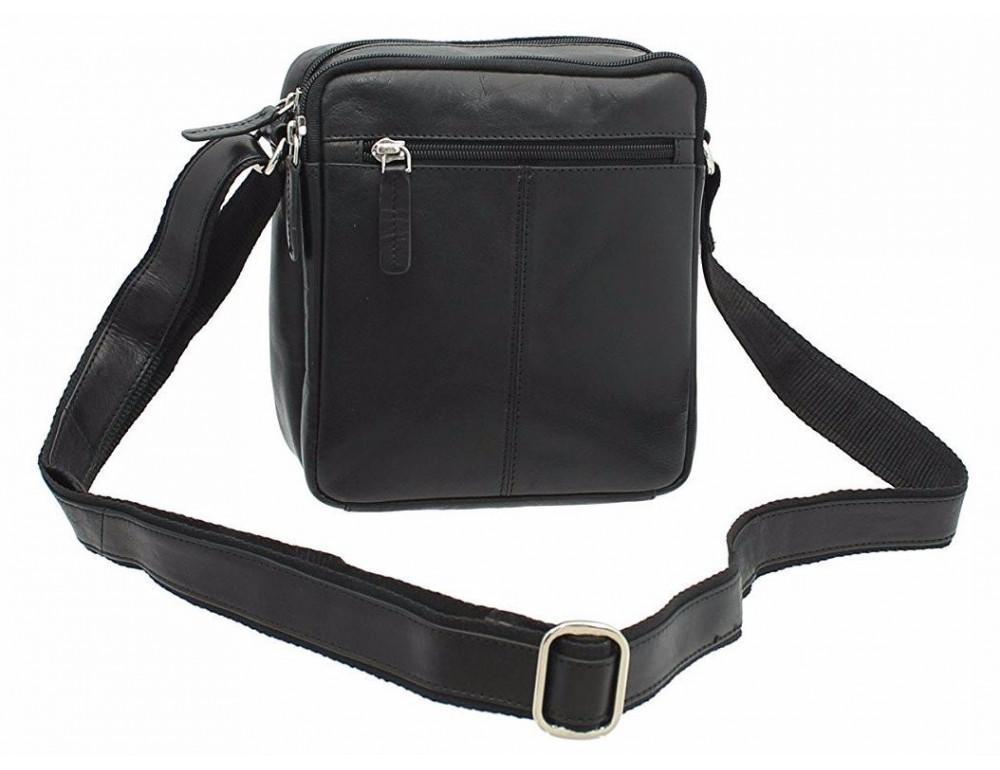 Чёрная мужская маленькая сумка-мессенджер Visconti S8 BLK - Фото № 6