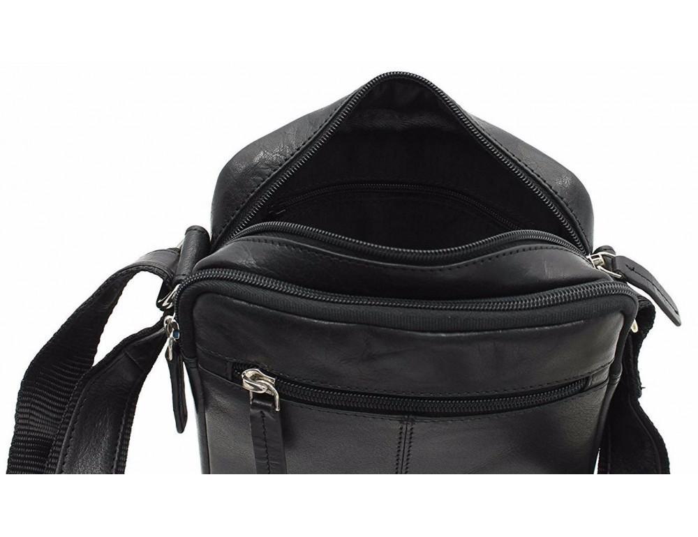 Чёрная мужская маленькая сумка-мессенджер Visconti S8 BLK - Фото № 7