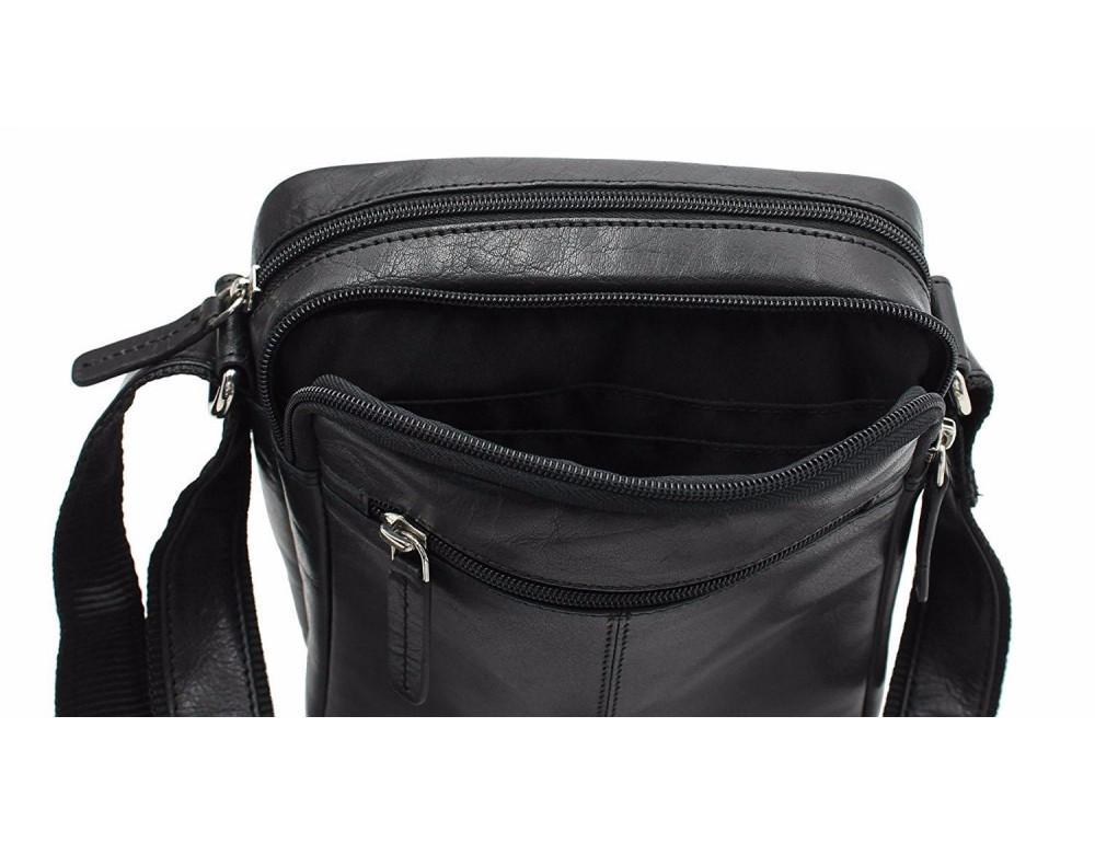 Чёрная мужская маленькая сумка-мессенджер Visconti S8 BLK - Фото № 8