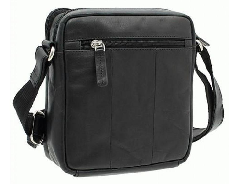 Чёрная мужская маленькая сумка-мессенджер Visconti S8 BLK - Фото № 1