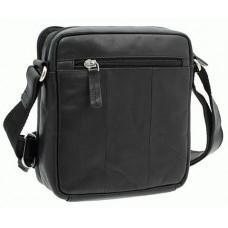 Чёрная мужская маленькая сумка-мессенджер Visconti S8 BLK