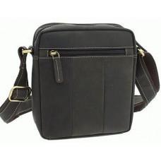 Тёмно-коричневая мужская маленькая сумка-мессенджер Visconti S8 OIL BRN