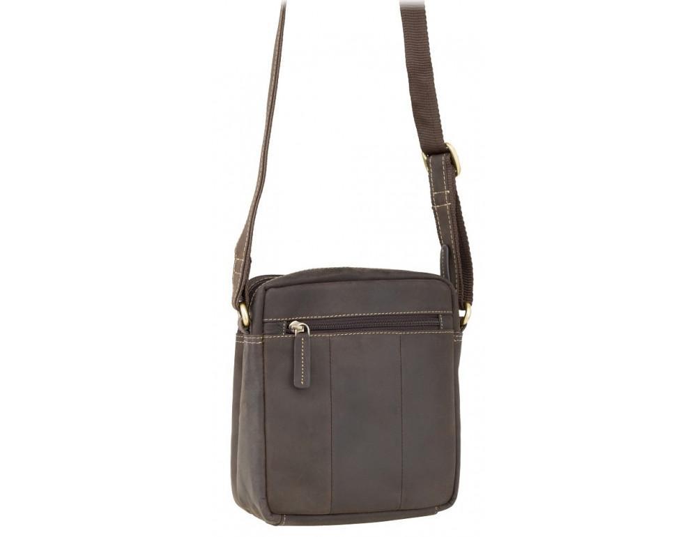 Тёмно-коричневая мужская маленькая сумка-мессенджер Visconti S8 OIL BRN - Фото № 3