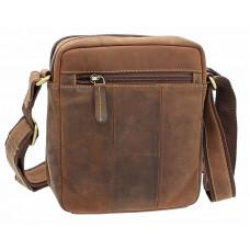 Коричневая мужская сумка мессенджер Visconti S8 OIL TAN