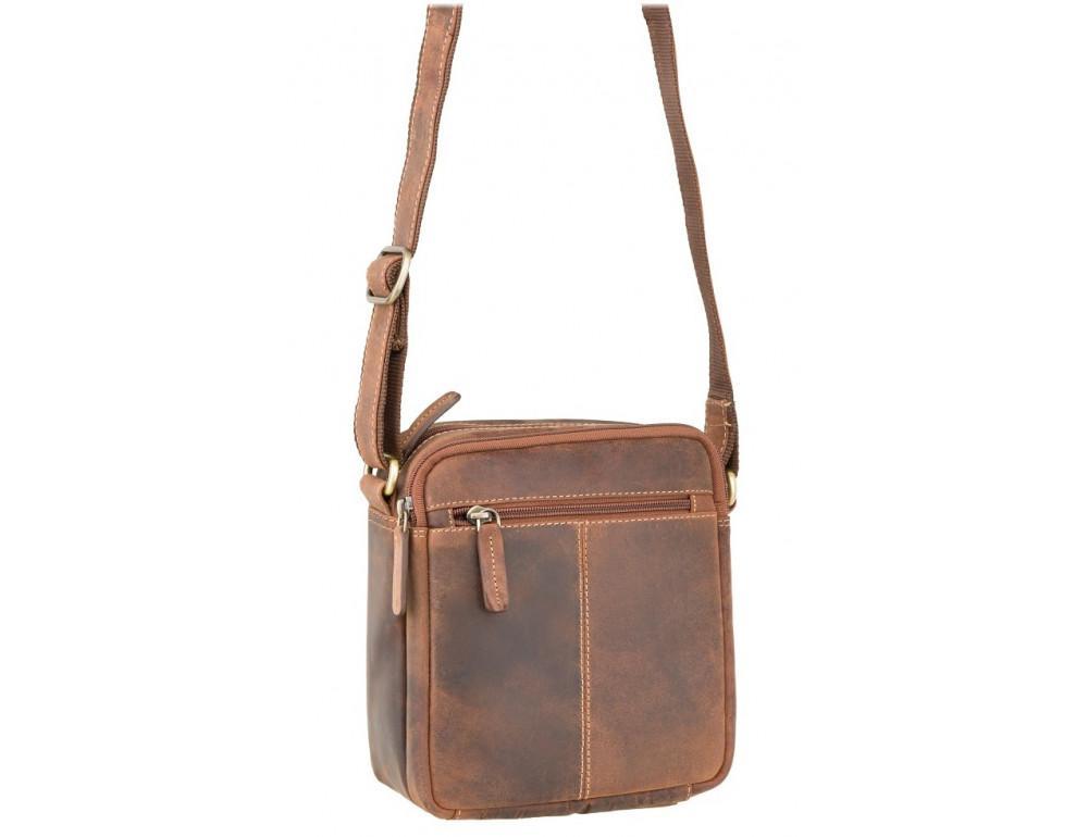 Коричневая мужская сумка мессенджер Visconti S8 OIL TAN - Фото № 2