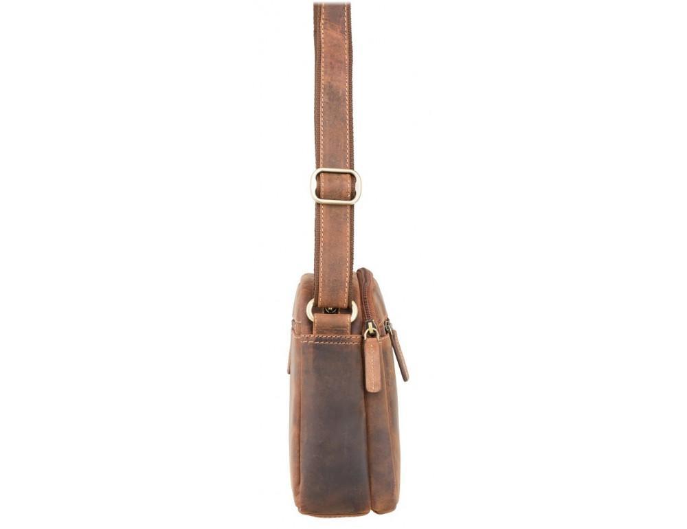 Коричневая мужская сумка мессенджер Visconti S8 OIL TAN - Фото № 3