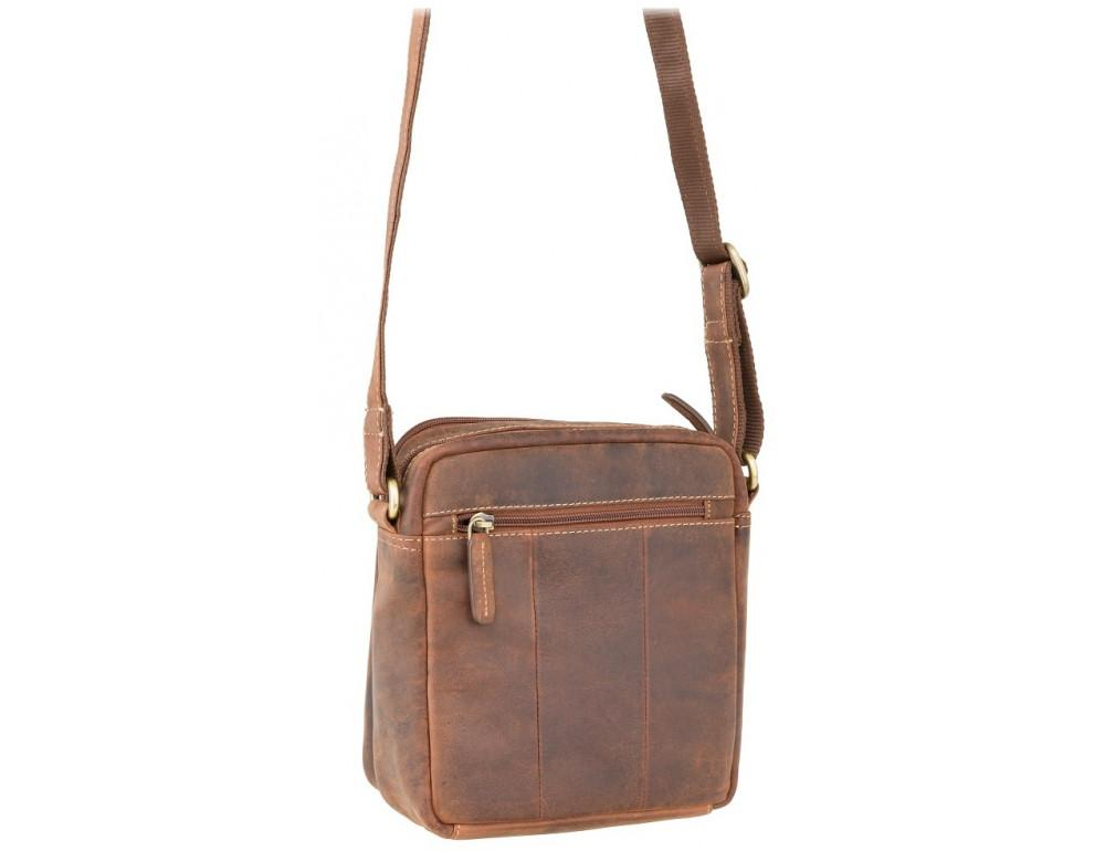 Коричневая мужская сумка мессенджер Visconti S8 OIL TAN - Фото № 4