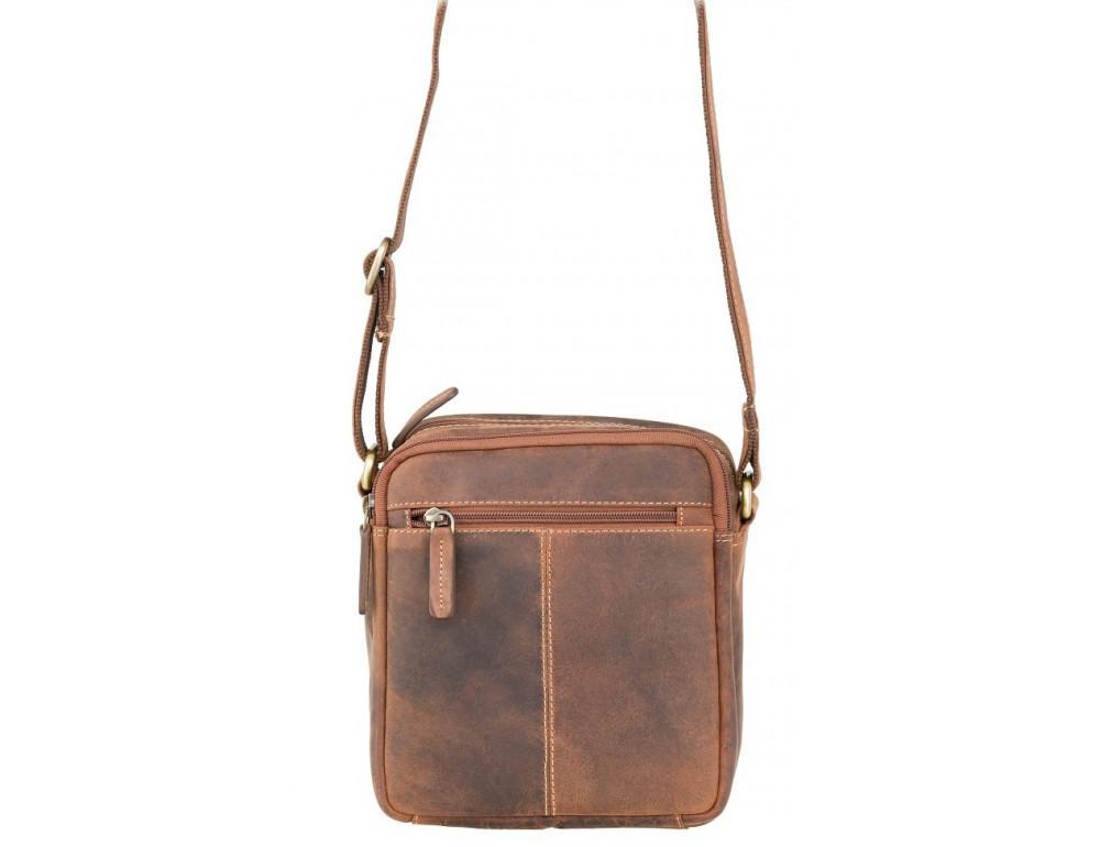 Коричневая мужская сумка мессенджер Visconti S8 OIL TAN - Фото № 5